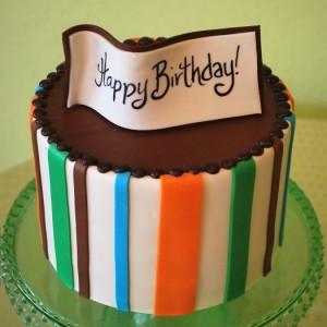 Birthday Banner Cake